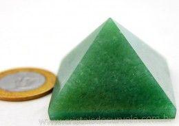 Piramide Quartzo Verde Baseada Queops Pedra Comum Lapidado Manual Cod 59.5