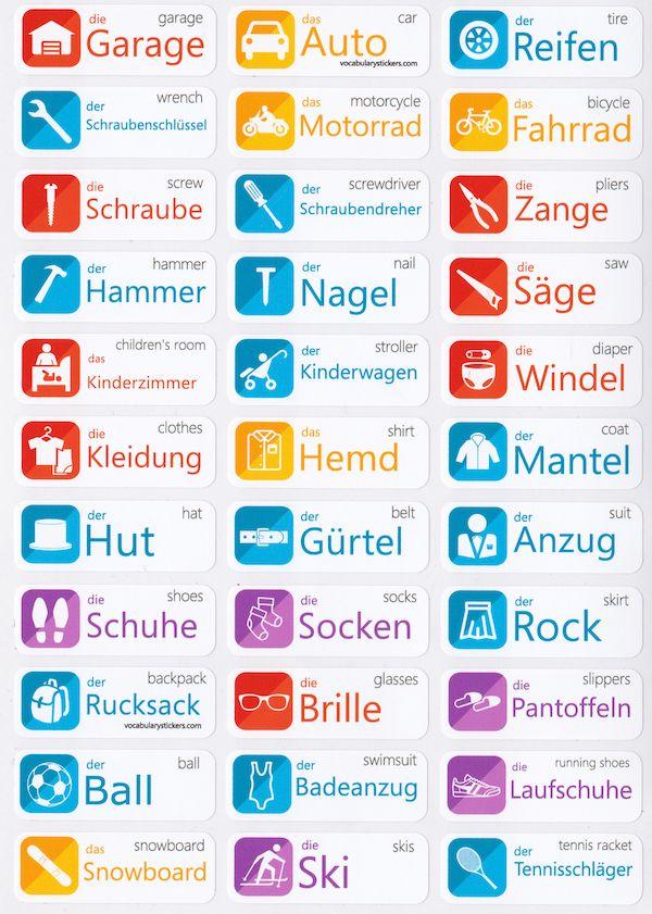 German Language Stickers
