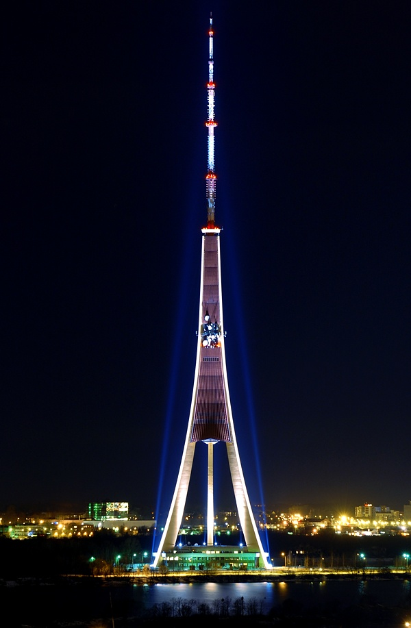 Degree 14 of towers Television tower in Riga.Latvia Height: 368,5m