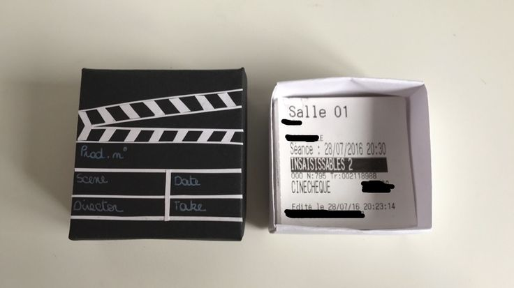 Réalisation d'une boîte en origami en forme de clap de cinéma pour ranger tous les tickets de cinéma 🎬