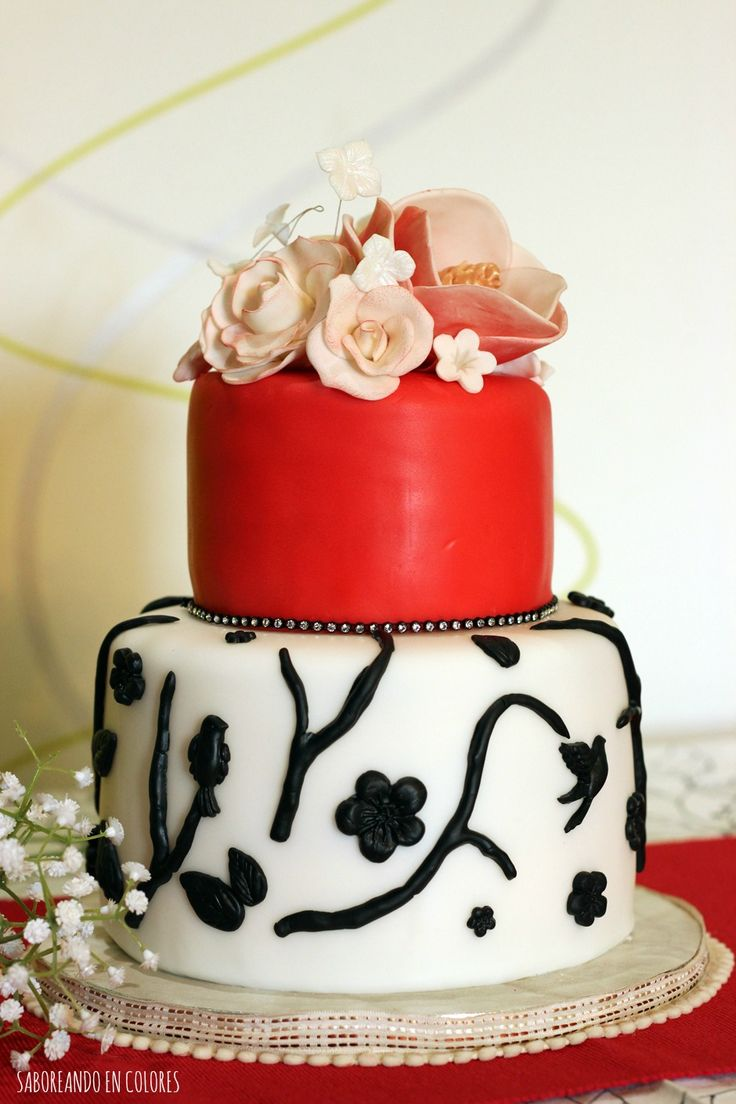 M s de 1000 ideas sobre tartas bonitas en pinterest - Tarta red velvet alma obregon ...