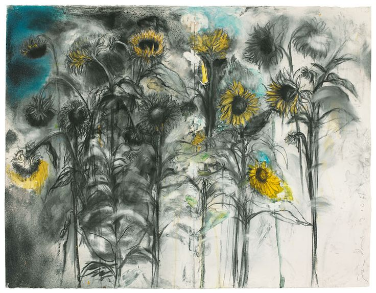 """Jim Dine Sun on the Paloose, 2004 charcoal, watercolor, pastel and spray paint on paper 47-1/2"""" x 61-1/2"""""""