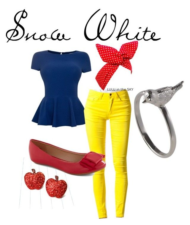 """Snow White"" by katie-rinker ❤ liked on Polyvore featuring VILA, women's clothing, women, female, woman, misses, juniors and snow white disney"