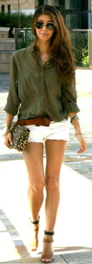 Love the outfit for summer. Not a big fan of leopard print, but the rest of the outfit is cute.