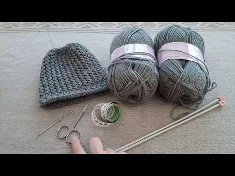 8dc43545ea5 Bonnet bébé 3 à 6 mois au tricot facile à faire point jersey et point  croisé - YouTube