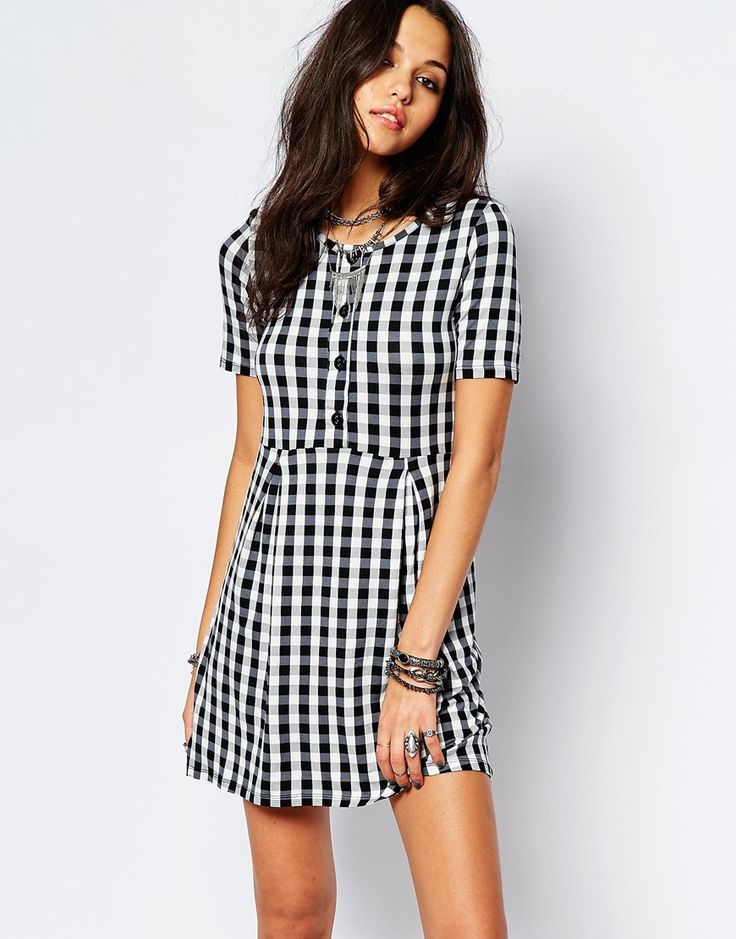 Image 1 ofNoisy May Gingham With Button Up Detail