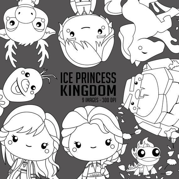 Ice Princess Clip Art Digital Clip Art Ice Princess