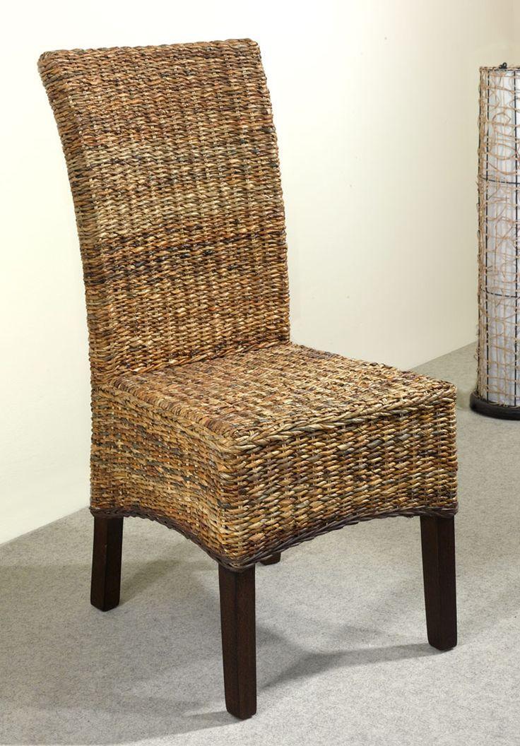 6er Set Esszimmerstühle Rattanstühle Korbstühle Stühle Neu Bananengeflecht