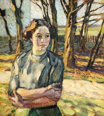 "I'm in love with this woman! Photos capture the outside world, paintings the world inside our minds. Note by Roger Carrier ""Wintersonne "" 1913 Leo Putz:"