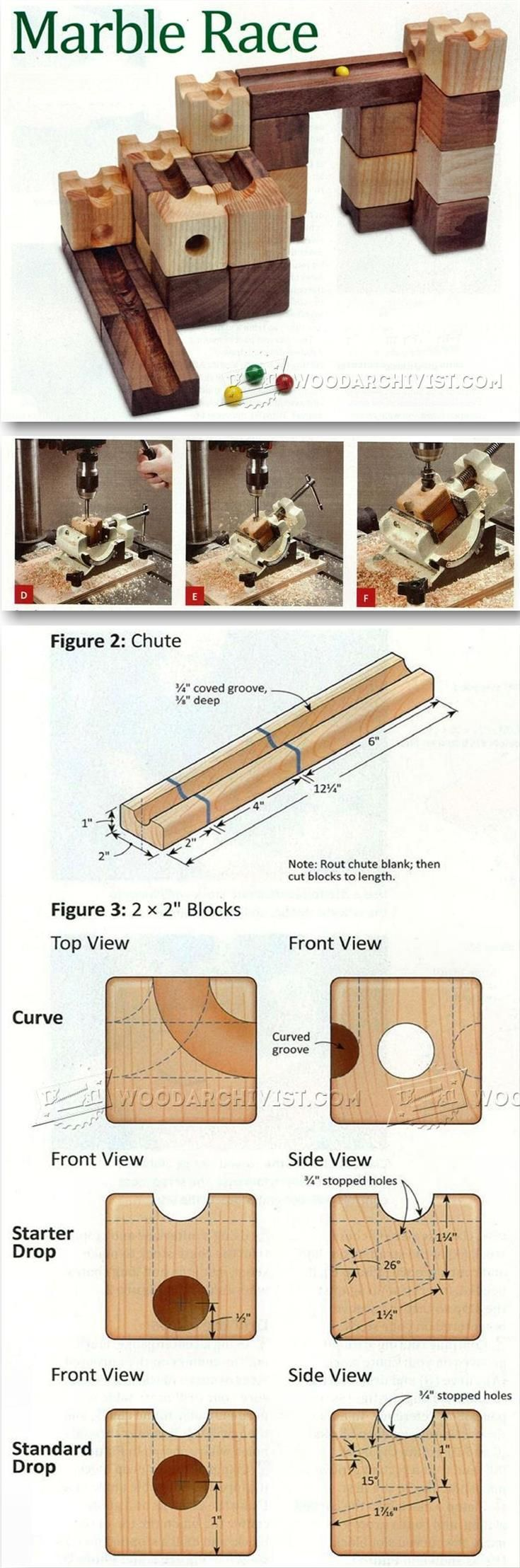 DIY Marble Race - Wooden Toy Plans and Projects | WoodArchivist.com