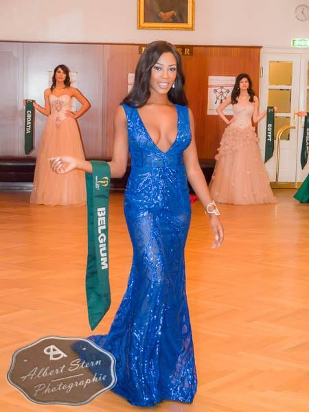 Miss Belgium  posing during the evening gown parade as part of the activities of Miss Earth 2015 #Coverage #MissEarth2015 #BeautyPageant #Austria #ZarDeMisses #BeautiesForACause