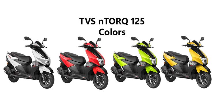 Tvs Ntorq Colors Red Green Yellow And White Yellow Red Green