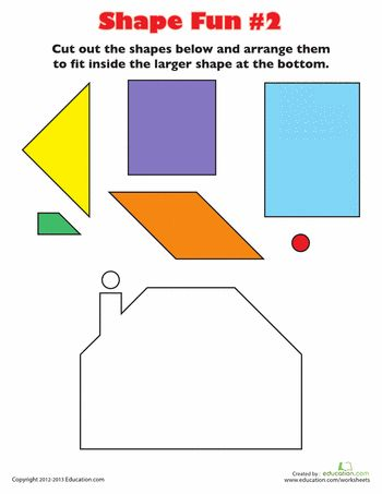 Worksheets: Play with Shapes 2