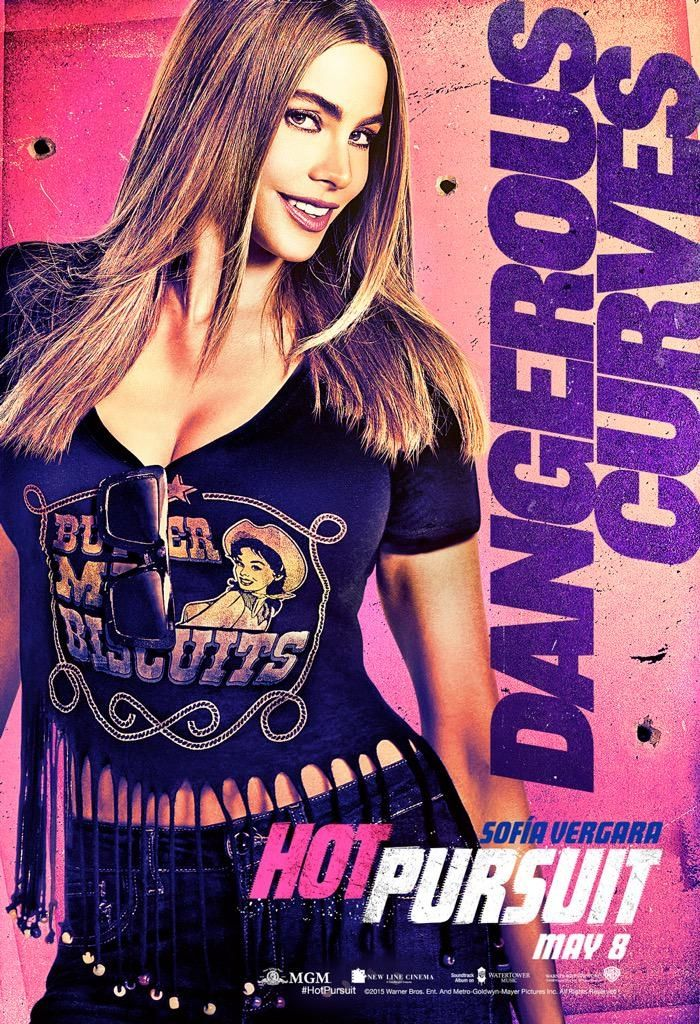 Sofia Vergara shows off her dangerous curves on 'Hot Pursuit' movie poster