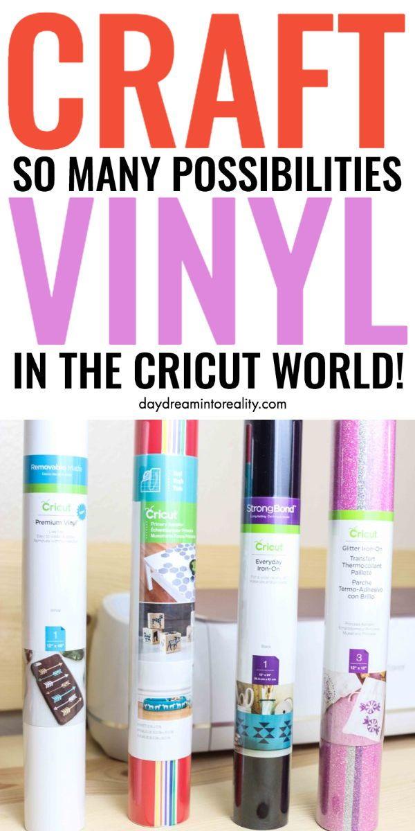 Everything About Craft Vinyl Adhesive Heat Transfer Vinyl Iron On In 2020 Cricut Tutorials Cricut Projects Vinyl Cricut