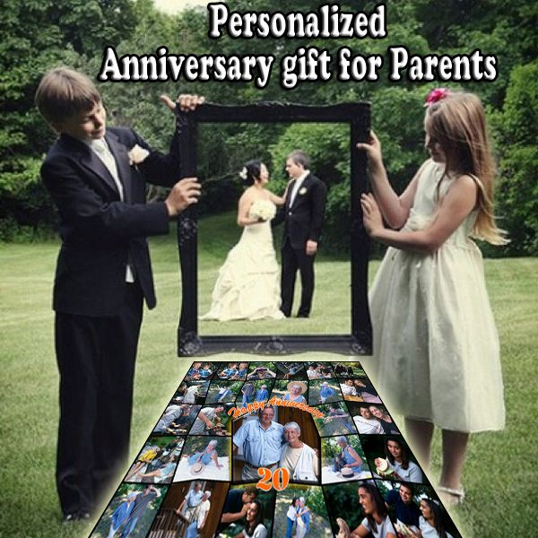 Parents 20th Anniversary Photo Gift Ideas 20 Year Wedding Picture Collage Good Gifts