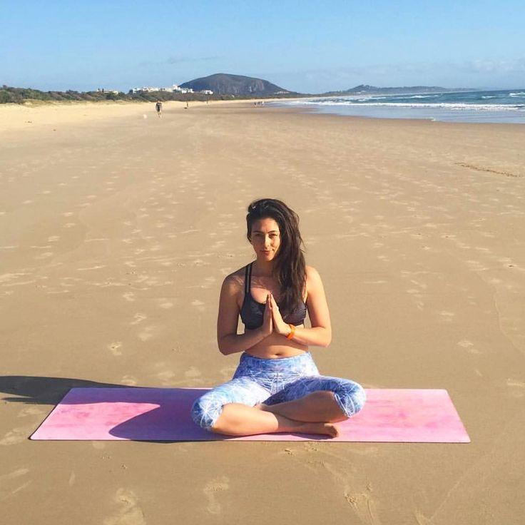 Sarah on the beautiful Ananda Yoga Mat from stateofshanti.com
