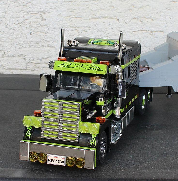 Black Custom Truck 15 Lego truck, Lego technic, Lego sets