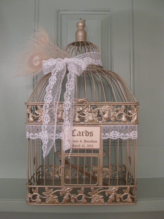 Vintage Style Champagne Bird Cage Wedding by SouthburyTreasures, $58.00Style Champagne, Wedding Cards, Birds Cages, Birdcages, Champagne Birds, Cards Holders, Cards Boxes, Bird Cages, Vintage Style