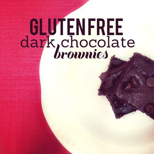 Gluten-Free Dark Chocolate Brownies | Gluten-free Recipes | Pinterest