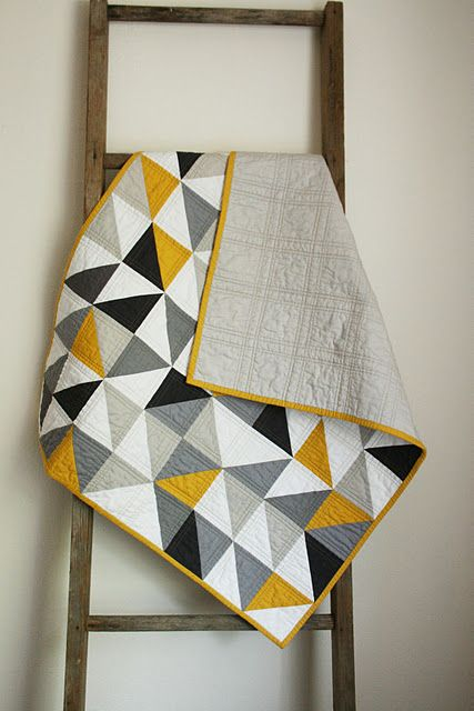 Home / Crafty Blossom: Color Schemes, Color Combos, Baby Quilts, Quilts Idea, Black White, Baby Boy, Boys Quilts, Triangles Quilts, Modern Quilts