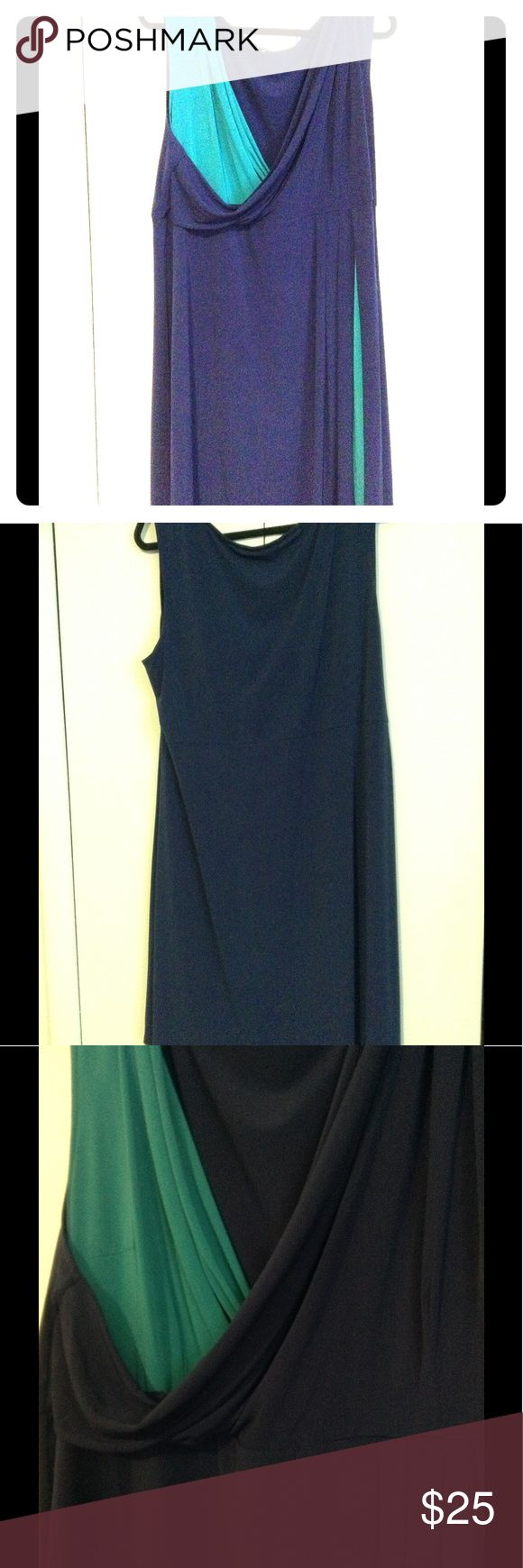 Navy & Teal Dress Perfect for a casual day or a night out Daisy Fuentes Dresses
