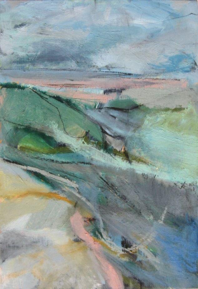 'Inlet', Janine Baldwin, oil on panel, 51 x 35cm www.janinebaldwin.co.uk