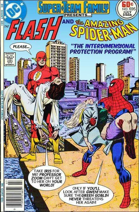 The flash and spiderman. Wish I could read this comic