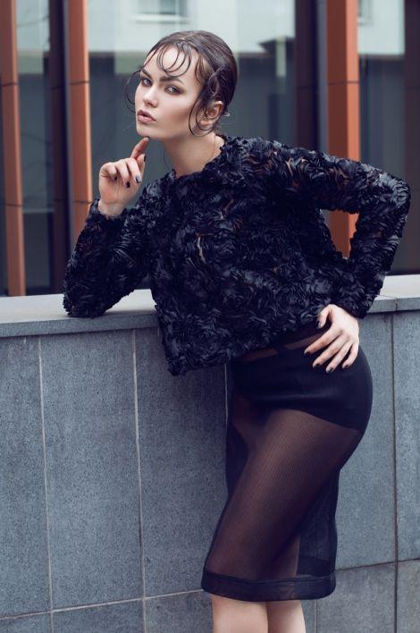 blouse and skirt by Aleksandra Mirosław