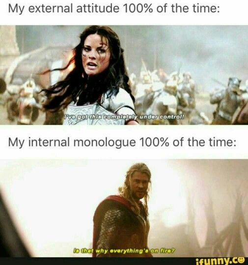 Internal versus External thinking explained by Sif in Thor
