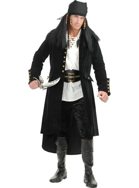Treasure Island Pirate Jacket for Adults - Party City