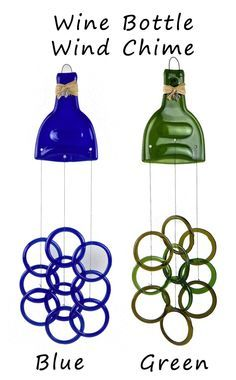 wine bottle wind chimes instructions | Click here to view the entire Wine Wind Chime collection.