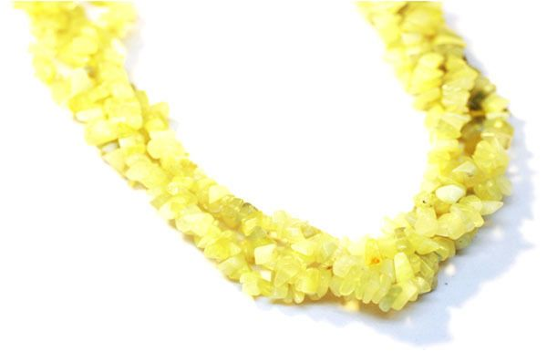 "2 Strand Lemon Jade Endless Shape Chips Beads Strand,Jewelry Making Chip,36""Long #Empressbeads"