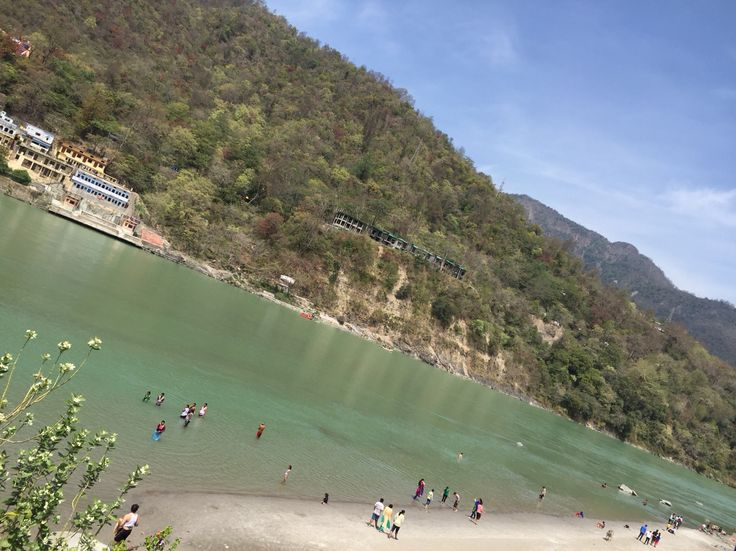This is Ganga River and it is also the beach in summertime. Rishikesh
