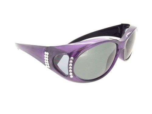 Best selling polarized fit over sunglasses with Swarovski Crystals.