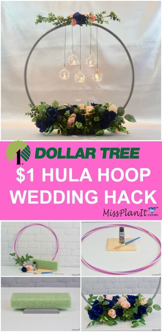Dollar Tree Wedding Hacks. Wedding Ideas on a Budget. DIY wedding centerpieces.