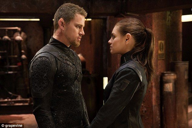 Out of this world: Channing's space opera film Jupiter Ascending sees him portray a genetically-engineered warrior who saves Mila Kunis' character.