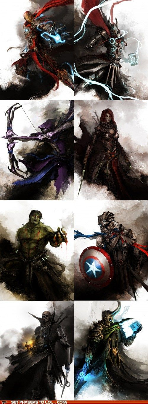 The Avengers are Dark Fantasy Characters  an awesome way to transform modern…