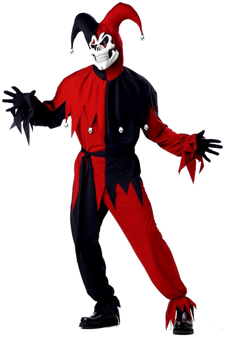 Men's Adult- Red Evil Jester - From $19.82