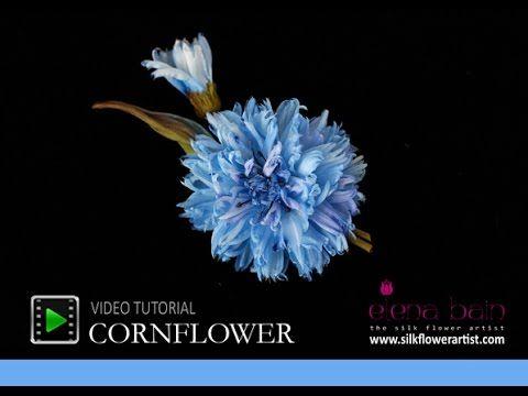 Video tutorial Silk Cornflower ✄ https://www.youtube.com/watch?v=85-xcP4AgCM