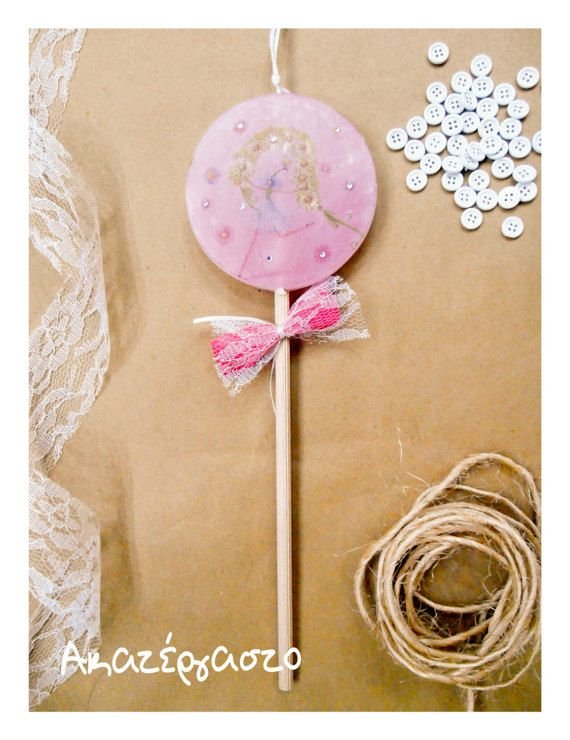 Easter candle double face lolypop candle little by Akatergasto