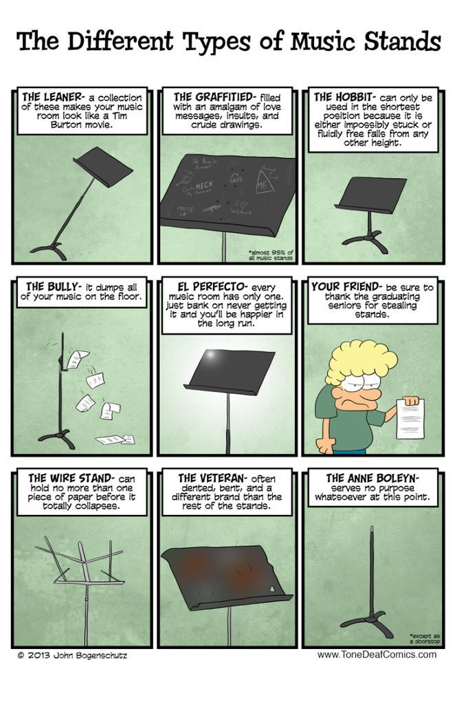 "Get this 11"" x 17"" poster for your ensemble room just so everyone knows what they are getting into when they pick out their music stands for that day's rehearsa"