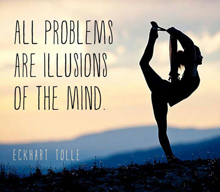 All problems are illusions of the mind!  #yoga #yogi #namaste #sujajuice #detox