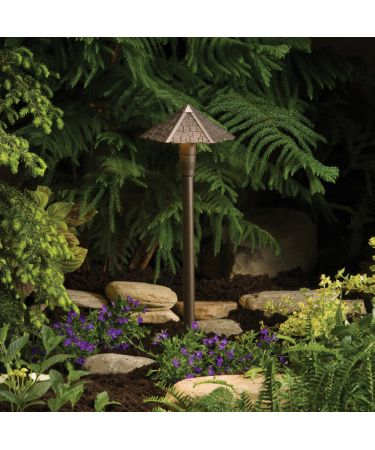 Kichler 15401 Tatched Roof Landscape Path Light