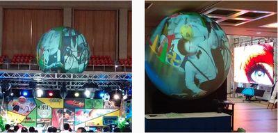 ビデオバルーン(日本代理店サイト)  バルーンスクリーン、式典、コンサート、 イベント、球体スクリーン,巨大球体スクリーン、地球 スクリーン,プロジェクター,   東京オリンピック 2020