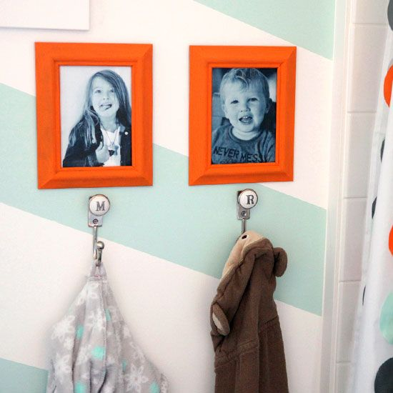 Check out this gender neutral bathroom redesign, perfect for kids!