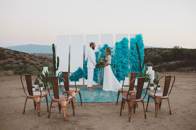Eclectic Smoke Bomb Wedding Inspiration | Green Wedding Shoes Wedding Blog | Wedding Trends for Stylish + Creative Brides