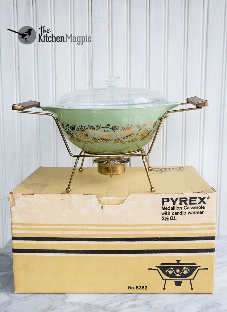 Pyrex Medallion Casserole With Candle Warmer And Original