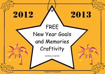 New Year Goals and Memories Craftivity (Freebie) This looks really fun!