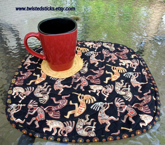 Kokopelli Quilted Placemat Southwestern Placemats by twistedsticks
